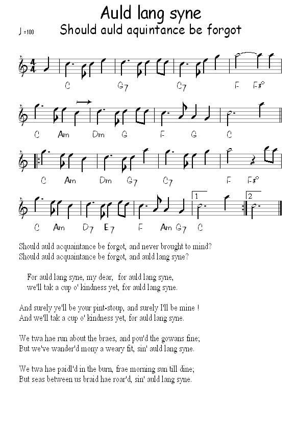 Lyric same old lang syne lyrics : New year's eve song lyrics auld lang syne new--year.info 2019